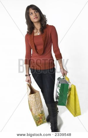 Woman With Shoping Bags