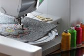 Embroidery Of Colorful Mandala On Felt With Embroidery Machine - Embroidery Machine, Tablet Computer poster