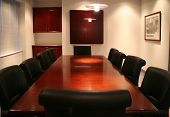 foto of convocation  - high quality picture of a corporate boardroom at a head office - JPG