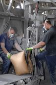 picture of factory-worker  - Workers on the cement factory in Russia rostov region  - JPG