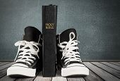 Black Holly Sneakers Bible Sport Background Object poster