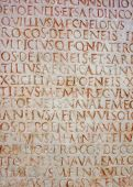 Stone Carved Text At Capitoline Museum, Rome, Italy poster