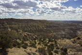 A View Of The Angel Peak Scenic Area In Northwestern New Mexico. This Blm Area Showcases Colorful De poster