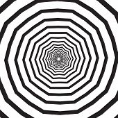 Abstract Square Background With Polygonal Black And White Swirl, Helix Or Vortex. Backdrop With Psyc poster