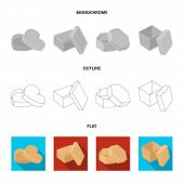 Case, Shell, Framework, And Other  Icon In Flat, Outline, Monochrome Style.box, Container Package Ic poster
