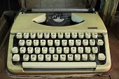 image of old vintage typewriter  - Old typewriter portable for business in retro - JPG