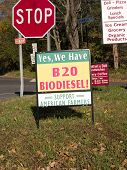 picture of biodiesel  - A sign at a service station advertising biodiesel - JPG