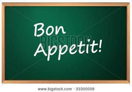 Illustration of a Bon Appetite sign