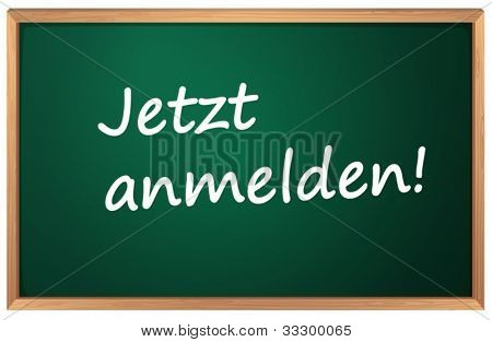 Illustration of Jetzt anmelden sign