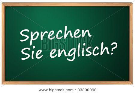 Illustration of German English sign