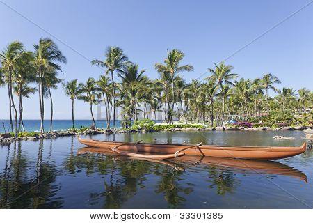 Outrigger Hawaiian Canoe