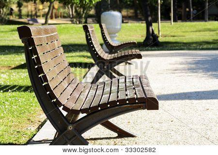 Scene Of Street Furniture In Public Park