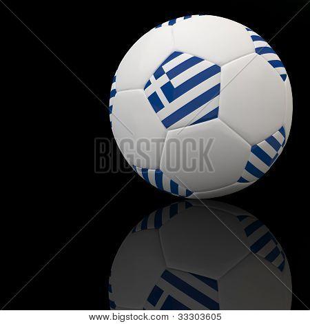 Euro flag on 3d football