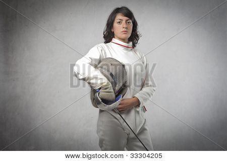 Young female fencer