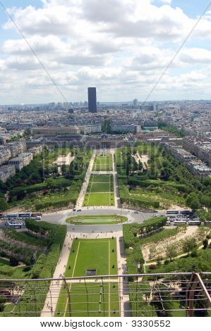 Ariel View Of Paris, France From Eiffle Tower