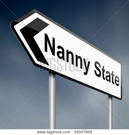 Nana del concepto del estado.