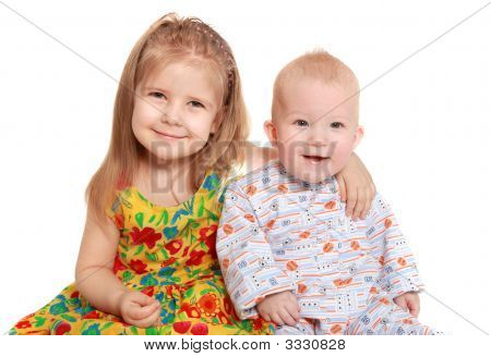 Cheerful Brother And Sister