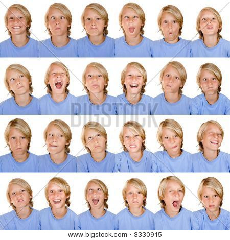 Multiple Facial Expressions