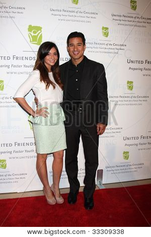 LOS ANGELES - MAY 21:  Courtney Mazza, Mario Lopez arrives at the 2012 United Friends of the Children Gala  at Beverly Hilton Hotel on May 21, 2012 in Beverly Hllls, CA