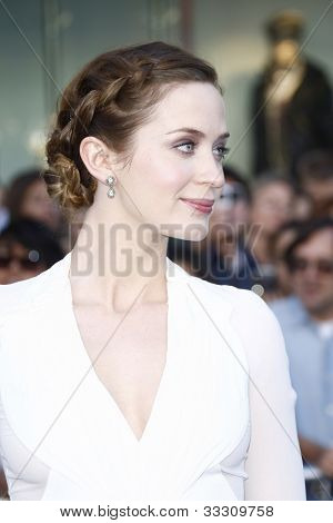 LOS ANGELES - JAN 23: Emily Blunt at the premiere of 'Gnomeo & Juliet'  on January 23, 2011 in Los Angeles, California