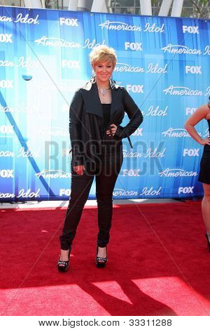 "LOS ANGELES - MAY 23:   Erika Van Pelt arrives at the ""American Idol 2012"" Finale at Nokia Theater on May 23, 2012 in Los Angeles, CA"