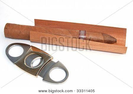 Cuban cigar and a guillotine