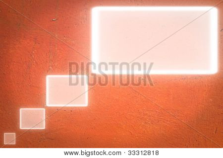 textbox on red wall.