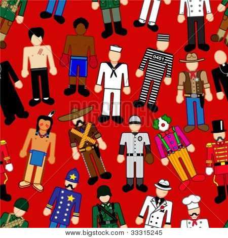 Classic Characters Seamless Pattern