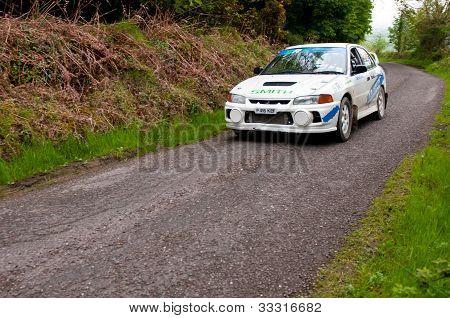 D. Smith Driving Mitsubishi Evo