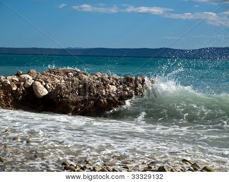 Beautiful coast in Central Dalmatia