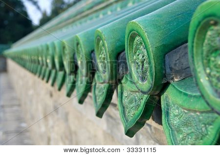 Green Ceramic Roof Tiles, Temple Of Heaven, Beijing