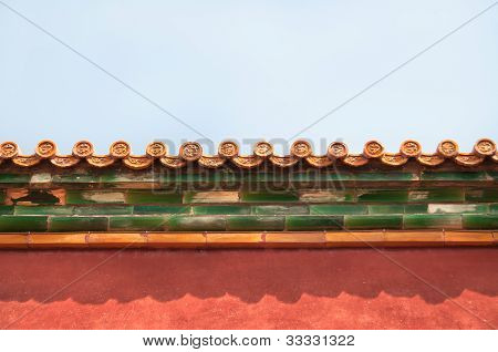 Ornate Roof Tiles, Forbidden City, Beijing