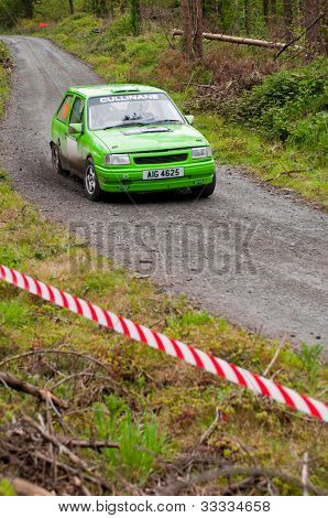 K. Culliname Driving Opel Corsa
