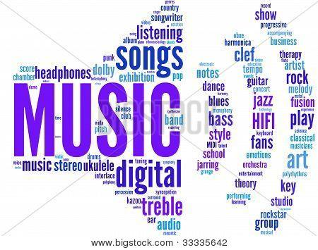 audio symbol tagcloud