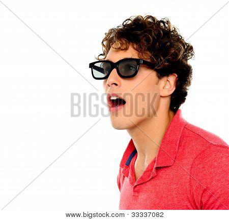 Portrait Of Shocking Smart Guy