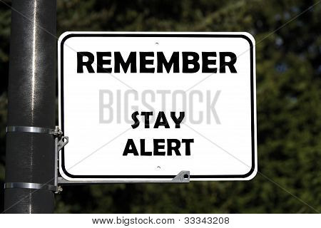 Stay alert(with clipping path)
