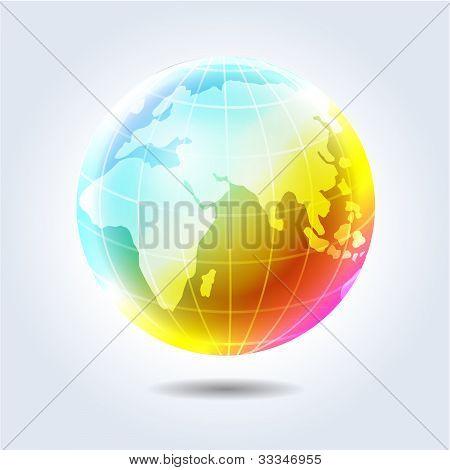 Earth Planet Rainbow Icon