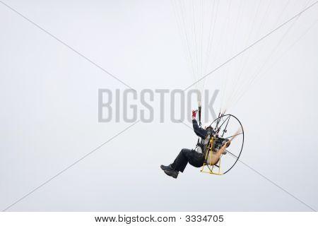Motor Powered Paraglider Closeup