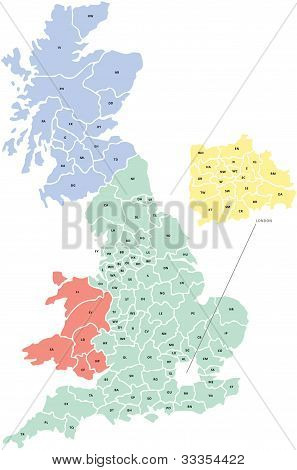 Postcode Map of UK