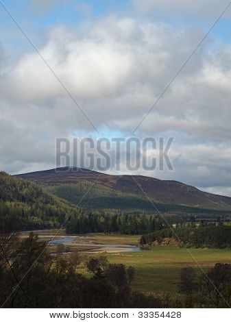 River Dee Area, West Of Braemar, Scotland.