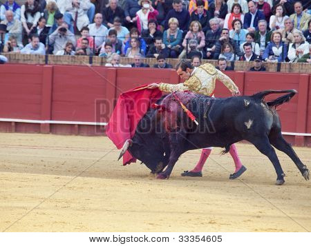 Sevilla -may 20: Novilladas In Plaza De Toros De Sevilla. Novillero: Emilio Huertas. May 20, 2012 In