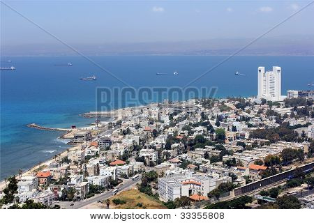 Aerial View Of Haifa