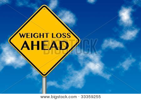 Weight Loss Ahead Sign