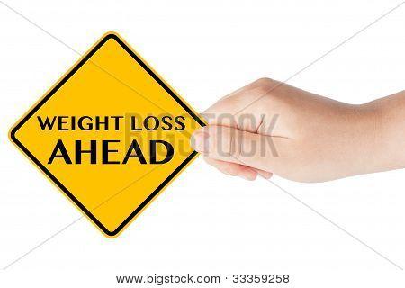 Peso pérdida anticipada señales con la mano