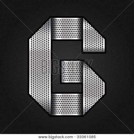 Letter metal chrome ribbon - G