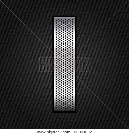 Letter metal chrome ribbon - I