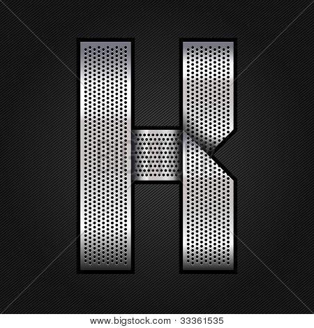 Letter metal chrome ribbon - K
