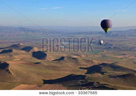 Hot Air Balloons At Sunrise In Turkey