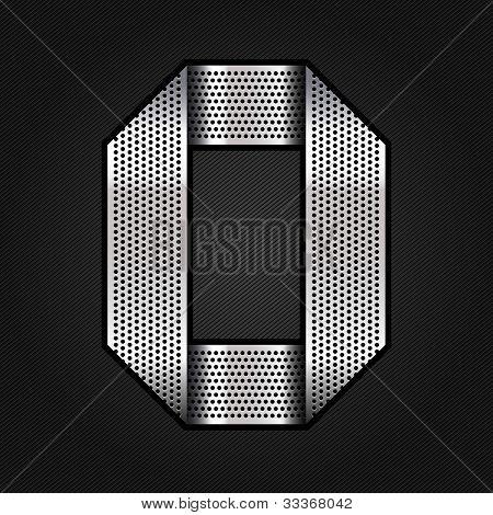 Letter metal chrome ribbon - O
