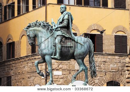 Equestrian statue of Cosimo I in Florence